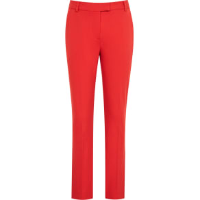 Reiss Joanne - Cropped Tailored Trousers in Red, Womens