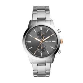 Fossil Fossil Gents Bracelet Chronograph Watch, Silver