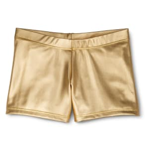 Danz N Motion by Danshuz Girls' Activewear Shorts Gold M