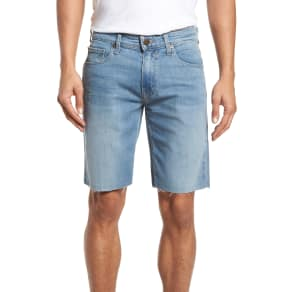 Men's Paige Transcend - Federal Slim Straight Leg Denim Shorts, Size 28 - Blue