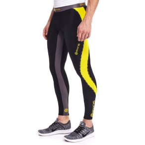 Skins Dnamic Long Tights - Black/Yellow - Mens
