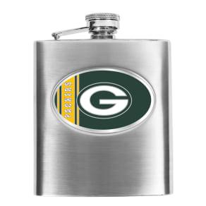 Simran Bar Basics Green Bay Packers Hip Flask