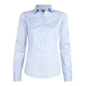 """""""Fitted Blue Bengal Stripe Shirt"""""""