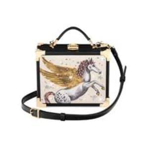 Limited Edition Hand Embellished Pegasus Mini Trunk Clutch