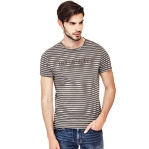 Guess Stripe Motif T-Shirt