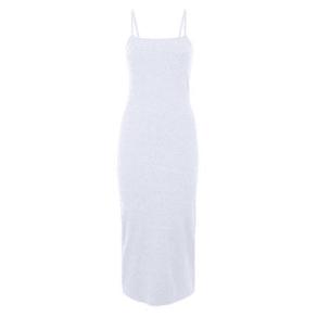 Grey Ribbed Strappy Midi Dress New Look