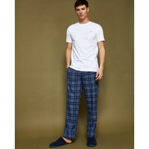 Checked Cotton Pyjama Set Blue