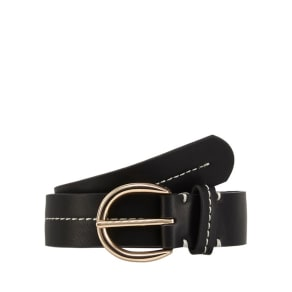 The Collection Black Contrast Stitch Belt