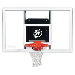 Goalsetter Gs54 54 Baseline Wall-Mounted Glass Basketball Hoop With Hd Breakaway Rim, Multi-Colored
