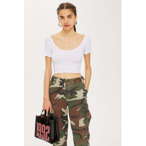 Womens Petite Crop Top