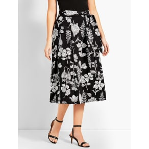 Talbots: Graphic Garden Pleated Midi Skirt