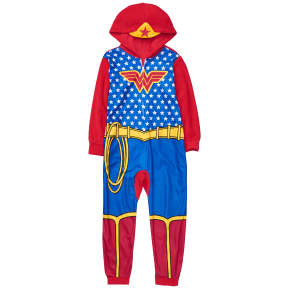 Girl's Wonder Woman 1-Piece Pajamas by Crazy 8 - Blue by Crazy 8