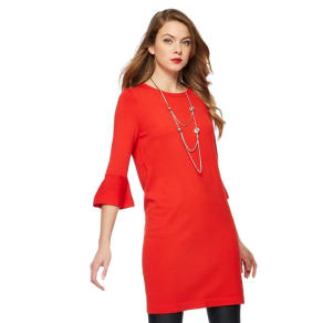Principles Petite by Ben De Lisi Red Pleat Sleeves Petite Tunic