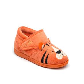 Chipmunks Boys Tommy Tiger Slippers, Orange