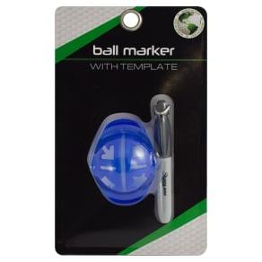 Jef World of Golf - Golf Ball Marker, White