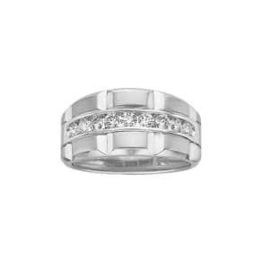 Men's 3/4 Ct. Tw. Diamond Wedding Band in 14k White Gold