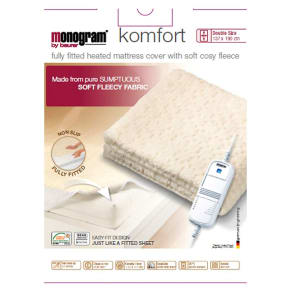 Monogram by Beurer Komfort Heated Mattress Cover-Double