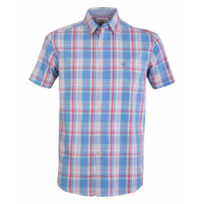 0a28d897cfd Men  039 s Double Two Short Sleeve 100 Cotton Checked Shirt