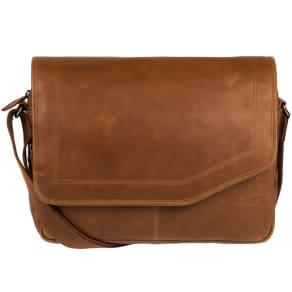 Cultured London Chestnut 'Reaction' Buffalo Leather Messenger Bag