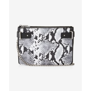 Express Womens 2-In-1 Snake Crossbody Bag