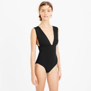 f37bf40c4807f Plunge V-Neck One-Piece Swimsuit
