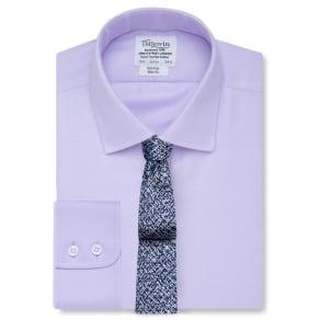 """Non-Iron Lilac Fine Twill Slim Fit Shirt"""