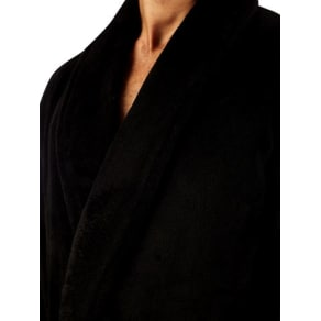 Mens Black Core Robe, Black