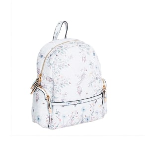 Parfois Multi Coloured Printed Polyurethane Backpack