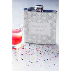 Cathy's Concepts 'Will You Be My Bridesmaid?' Print Flask