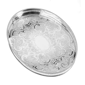 Arthur Price Silver Plated Oval Mounted Gallery Tray, Silver