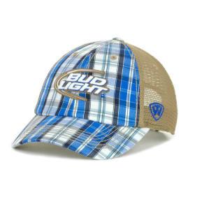Bud Light Bud Light Bud Plaid Front Mesh Back Cap