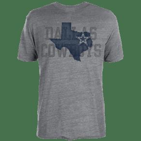 Dallas Cowboys Dcm Nfl Lone Coach T-Shirt - Mens - Grey