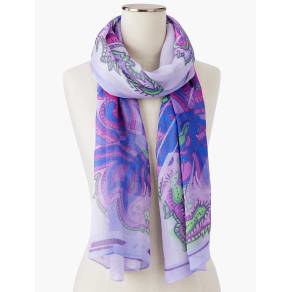 Talbots Women's Paisley Shadow Stripes Scarf