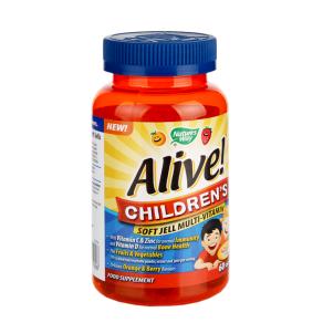 Nature's Way Alive! Children's Soft Jell 60 Tablets - 60tablets, Orange