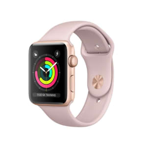 Apple Watch Series 3 GPS 42mm Aluminium Case Gold with Pink Sand Sport Band