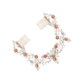 Butterfly by Matthew Williamson Designer Rose Gold Double Hair Comb