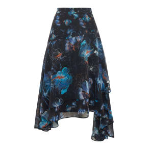 Label Lab Layla Orchid Print Skirt, Blue