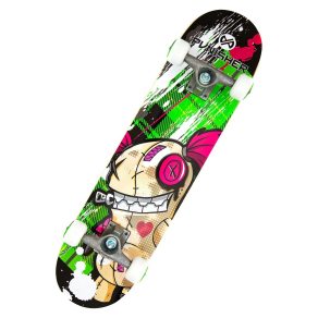 Punisher Skateboards Jinx 31.5 Green Skateboard