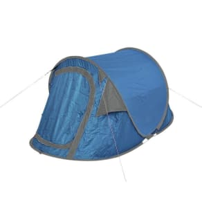 ab388913f67 Trespass 2 Man 1 Room Pop Up Tent - Blue Grey