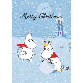 Hype Moomin Merry Christmas Snowball Card