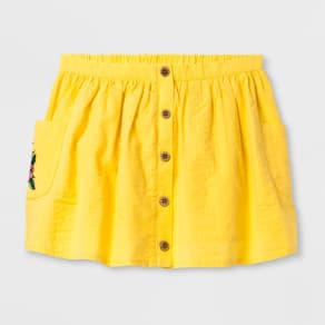 Genuine Kids From Oshkosh Toddler Girls' Button Front Skirt - Yellow 2t