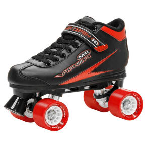 Roller Derby Men's Viper M4 Speed Quad Skates - Black/Red 11, Black Red