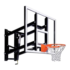 Goalsetter Gs60 60 Wall-Mounted Glass Basketball Hoop With Hd Breakaway Rim, Multi-Colored