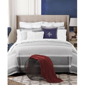 Tommy Hilfiger Woodford Reversible Stripe Full/Queen Comforter Set Bedding