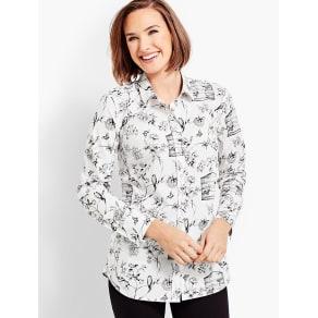 Talbots Women's Birdcage Toile Shirt