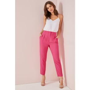 Womens Lipsy Tailored Skinny Trouser -  Pink