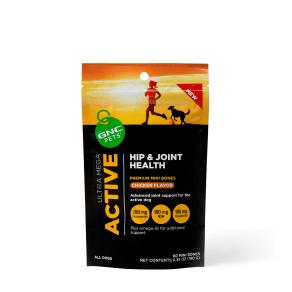 Ultra Mega Active - Hip & Joint Health - Chicken Flavor - 60 Mini Bones - Gnc Pets - Hip and Joint