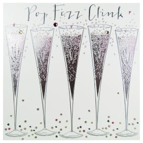 Bellybutton Bubble Pop Fizz Clink Greeting Card