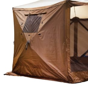 Clam Outdoors Quick-Set 2-Pack Screen Shelter Wind Panels With Windows - Brown