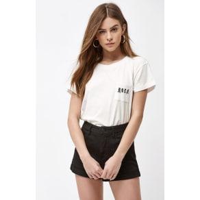 Rvca Womens Demote T-Shirt - White